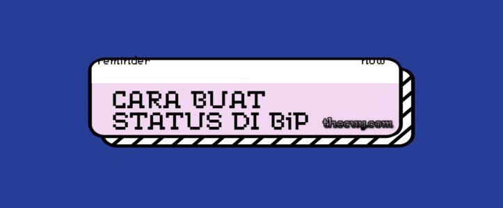 Cara Buat Status di BiP