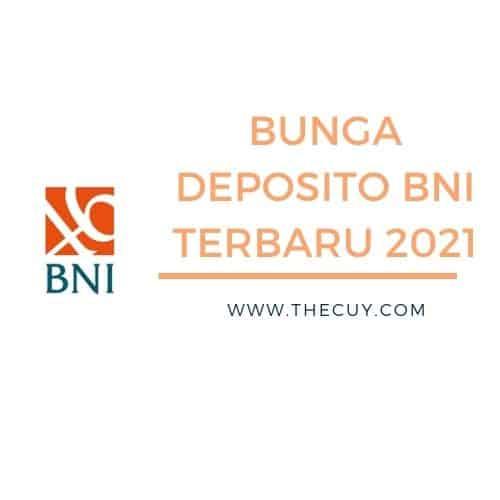 BUNGA DEPOSITO BNI TERBARU 2021
