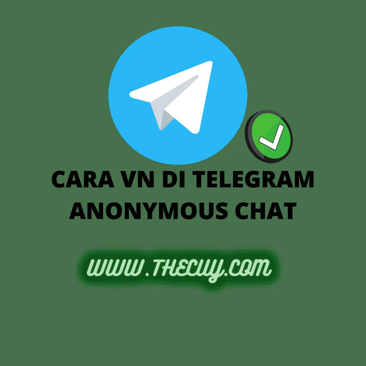 CARA VN DI TELEGRAM ANONYMOUS CHAT