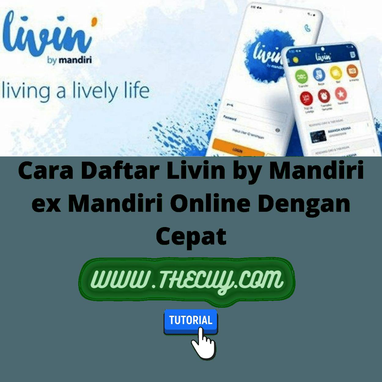 Cara Daftar Livin by Mandiri ex Mandiri Online Dengan Cepat
