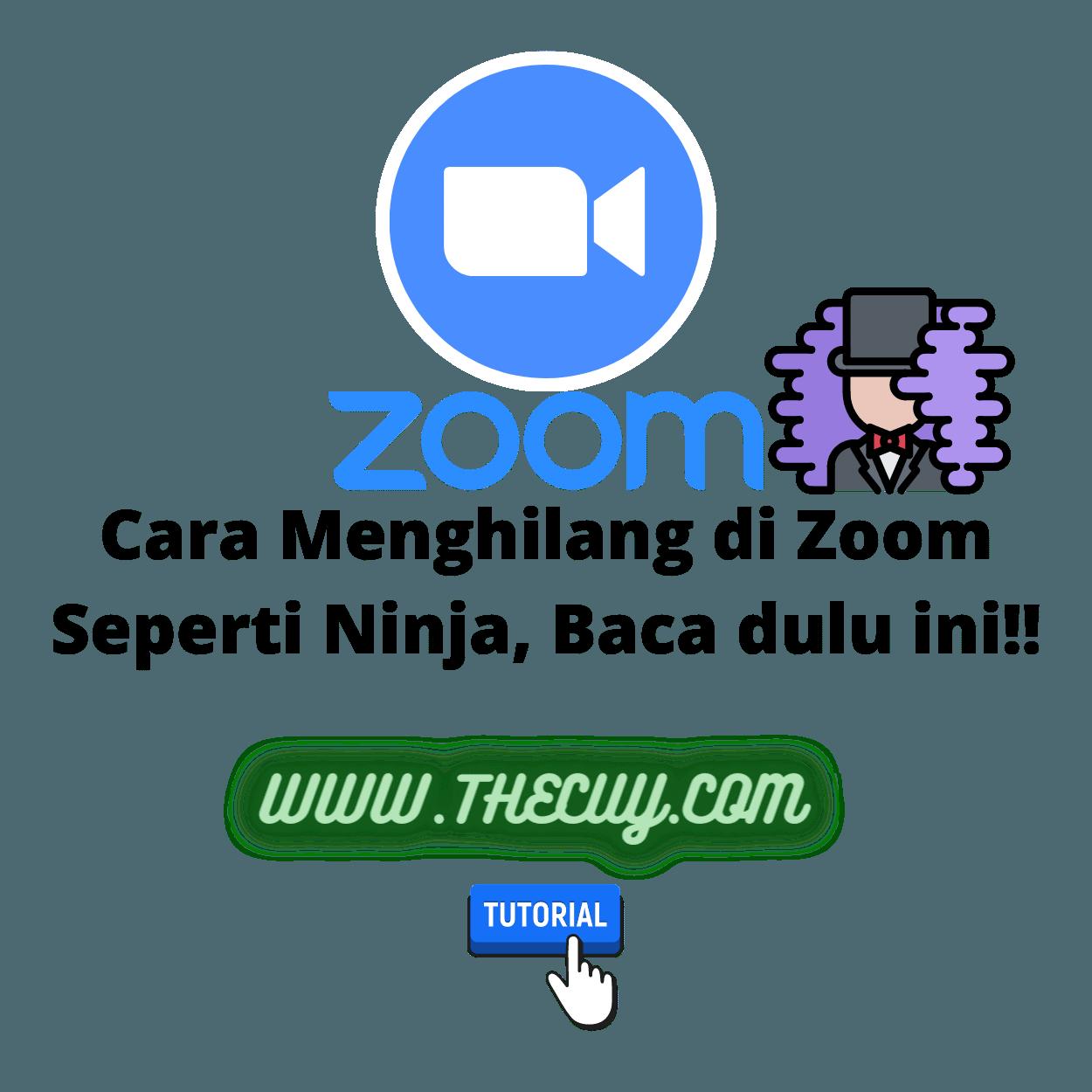Cara Menghilang di Zoom Seperti Ninja, Baca dulu ini!!