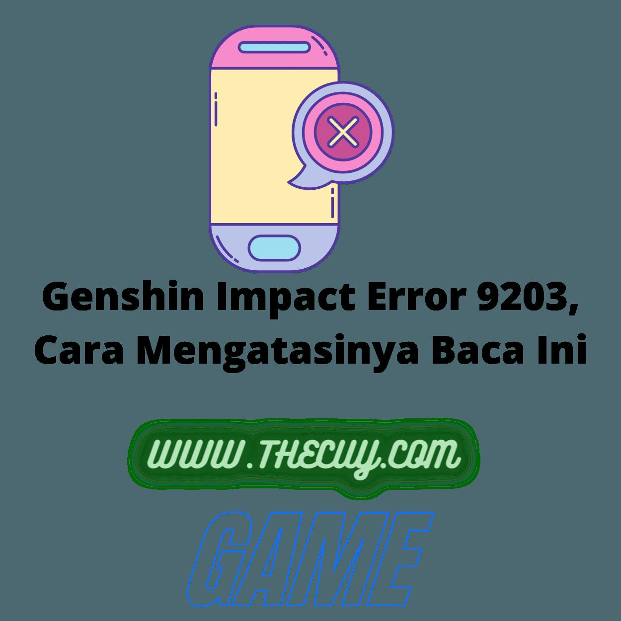Genshin Impact Error 9203, Cara Mengatasinya Baca Ini