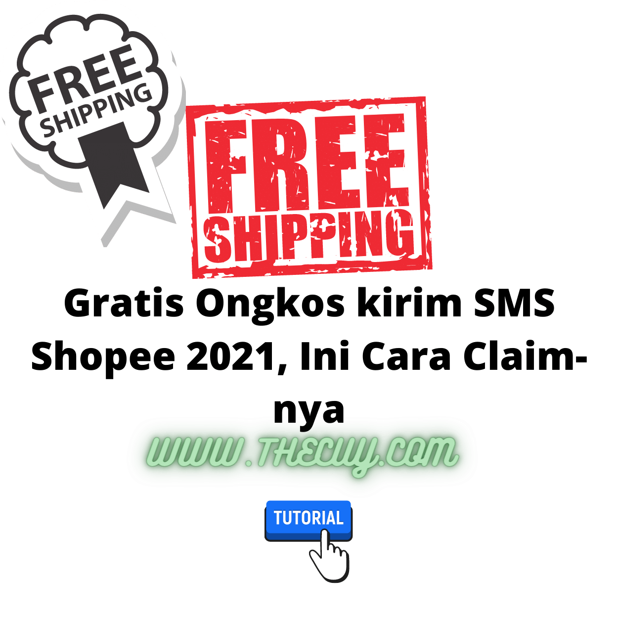 Gratis Ongkos kirim SMS Shopee 2021, Ini Cara Claim-nya