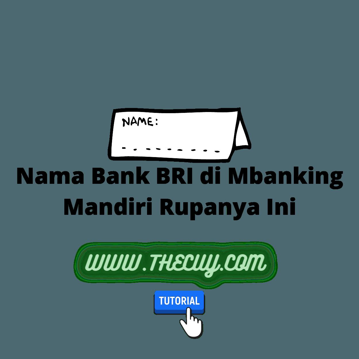 Nama Bank BRI di Mbanking Mandiri Rupanya Ini