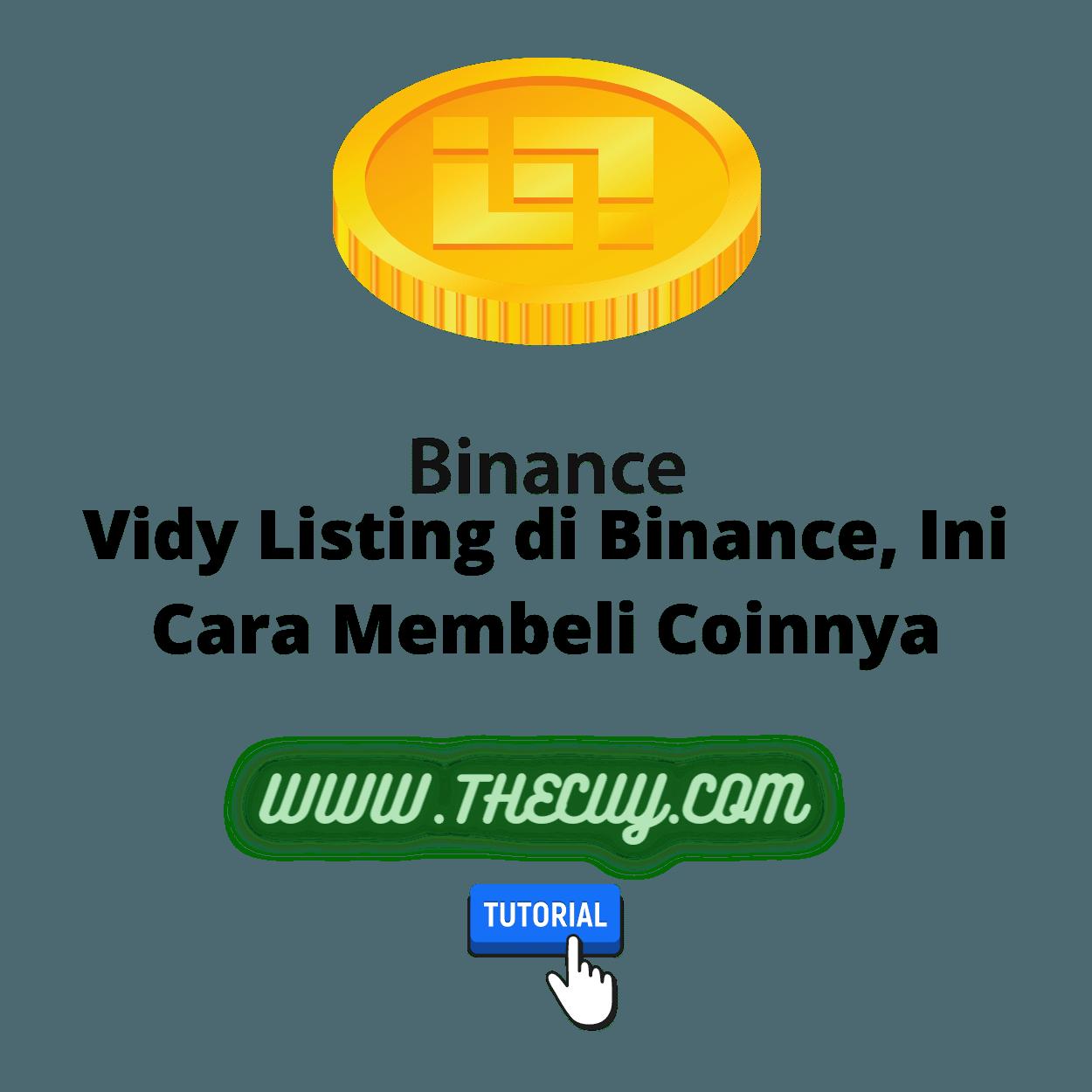 Vidy Listing di Binance, Ini Cara Membeli Coinnya