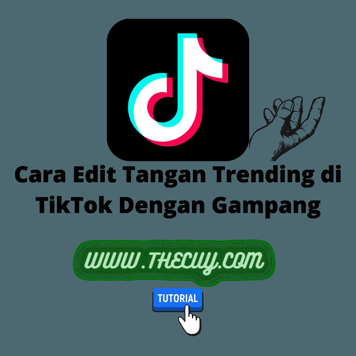 Cara Edit Tangan Trending di TikTok Dengan Gampang