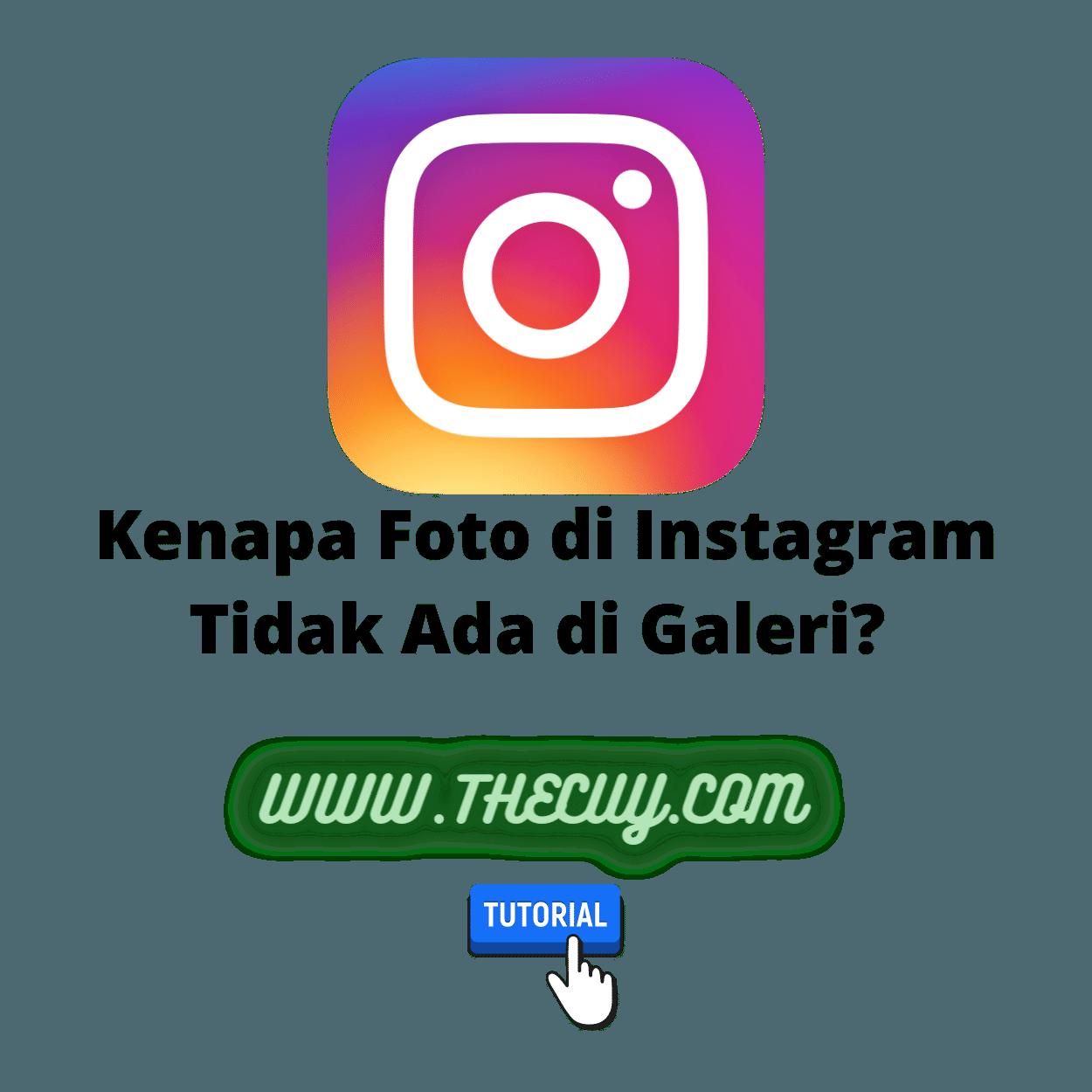 Kenapa Foto di Instagram Tidak Ada di Galeri?