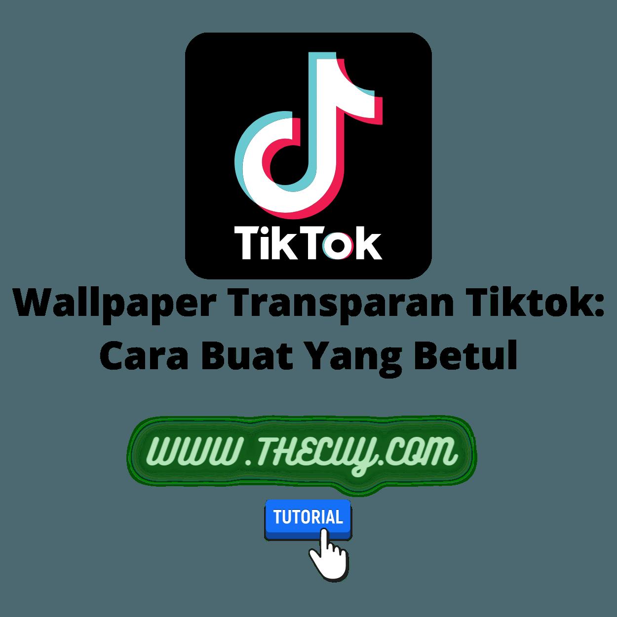 Wallpaper Transparan Tiktok: Cara Buat Yang Betul