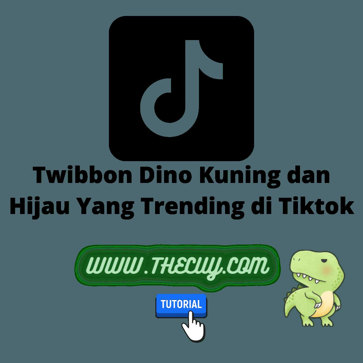Twibbon Dino Kuning dan Hijau Yang Trending di Tiktok